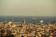 Sikt av Barcelona Royaltyfri Bild