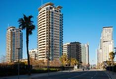Sikt av Barcelona, Sant Marti område Arkivfoton