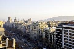 Sikt av Barcelona, Spanien Royaltyfria Foton