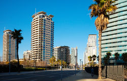 Sikt av Barcelona, Spanien. Sant Marti Royaltyfria Bilder