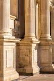 Sikt av barockkyrkan Arkivfoton