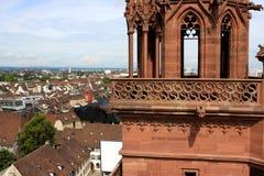 Sikt av Baseln från Munster, Schweiz Royaltyfri Fotografi