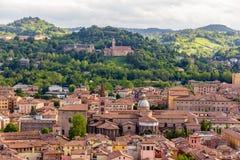 Sikt av Basilika di San Domenico i bolognaen, Italien Royaltyfri Fotografi