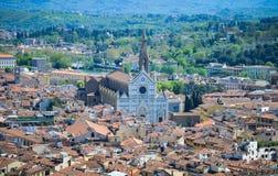 Sikt av basilikan Santa Croce Arkivfoton