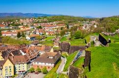 Sikt av Belfort från fästningen Royaltyfria Foton