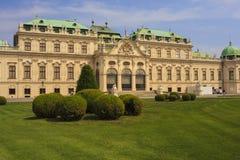 Sikt av belvederen, historisk byggnadkomplex i Wien, Aust royaltyfri bild
