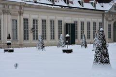 Sikt av Belvedereträdgårdar royaltyfri foto
