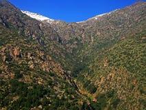 Sikt av berg från luften Arkivfoton
