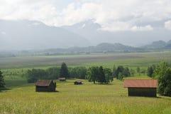 Sikt av berg i Bayern Fotografering för Bildbyråer