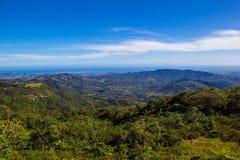 Sikt av berg i Puerto Rico Arkivfoto