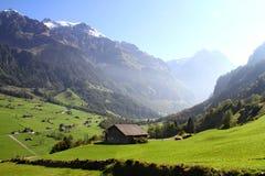 Sikt av berg i Schweiz Arkivbild