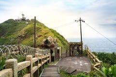 Sikt av berg och naturen på ostkusten av Taiwan Royaltyfria Foton