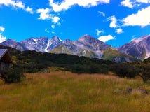 Sikt av berg, södra ö, Nya Zeeland, NZ Arkivfoton