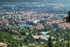 Sikt av Bergamo Fotografering för Bildbyråer