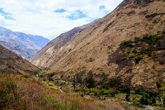 Sikt av bergen i Ecuador Royaltyfria Bilder