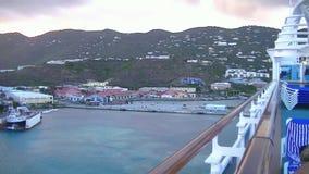 Sikt av bergen av Tortola stock video