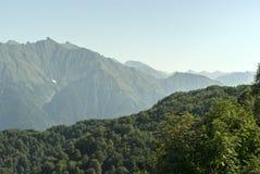 Sikt av berget Chugush Royaltyfri Bild