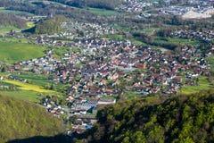 Sikt av berget Wasserflueh, Schweiz fotografering för bildbyråer
