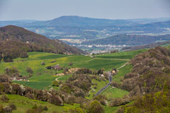 Sikt av berget Wasserflueh, Schweiz royaltyfria foton