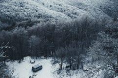Sikt av bergvägen Royaltyfri Fotografi