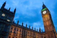 Sikt av Big Ben från den Westminster bron Arkivfoton