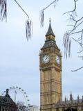 Sikt av Big Ben på mars 19, 2014 i London Arkivbilder
