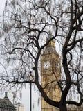 Sikt av Big Ben på mars 19, 2014 i London Royaltyfri Foto