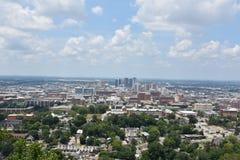 Sikt av Birmingham, Alabama fotografering för bildbyråer