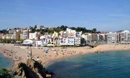 Sikt av Blanes i Girona, Spanien Royaltyfri Fotografi