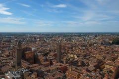 Sikt av Bolognastaden, Italien royaltyfri fotografi