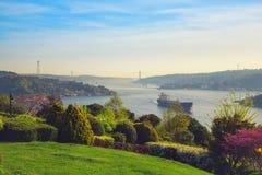 Sikt av Bosphorusen som tas från Otagtepe Royaltyfri Bild