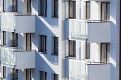 Sikt av bostadsbyggnaden arkivfoto