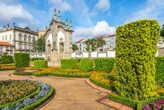 Sikt av botaniska trädgården i Barcelos, Portugal Royaltyfria Foton