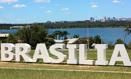 Sikt av Brasilia Royaltyfria Bilder