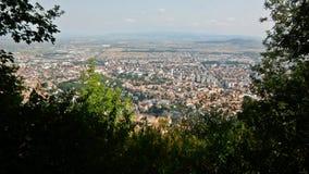 Sikt av Brasov Rumänien Royaltyfri Fotografi