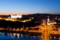 Sikt av Bratislavaen fotografering för bildbyråer