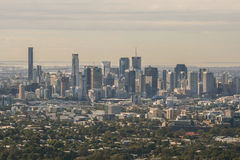 Sikt av Brisbane från Mt Sothöna-tha Arkivbilder