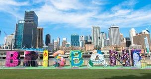 Sikt av Brisbane stadsskycrapers Royaltyfri Bild