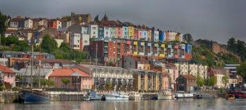 Sikt av Bristol Docks, England, Förenade kungariket arkivbild