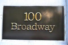 Sikt av broadway 100 Arkivfoto