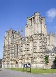 Sikt av brunndomkyrkan Arkivbild