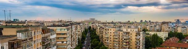 Sikt av Bucharest Arkivbilder