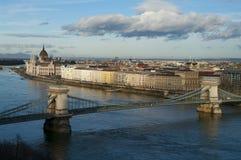 Sikt av Budapest, Ungern Arkivbild