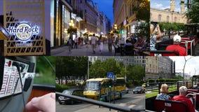 Sikt av Budapest, Ungerncollage stock video