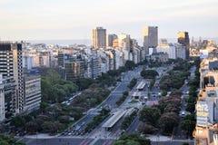 Sikt av Buenos Aires, Argentina, 18th av Februari av 2017 Arkivbild