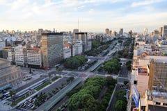 Sikt av Buenos Aires, Argentina, 18th av Februari av 2017 Arkivfoton
