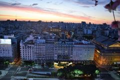 Sikt av Buenos Aires, Argentina, 18th av Februari av 2017 Royaltyfri Fotografi