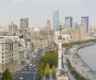Sikt av bunden i Shanghai i morgonen Arkivfoton