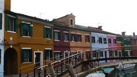 Sikt av Burano, Italien 4 K arkivfilmer