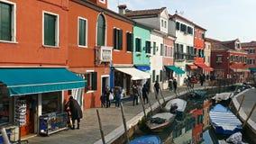 Sikt av Burano, Italien 4 K stock video